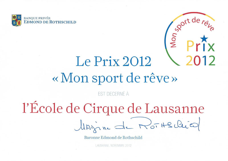 """L' E.C.L lauréate du """"Prix mon sport de rêve 2012"""""""