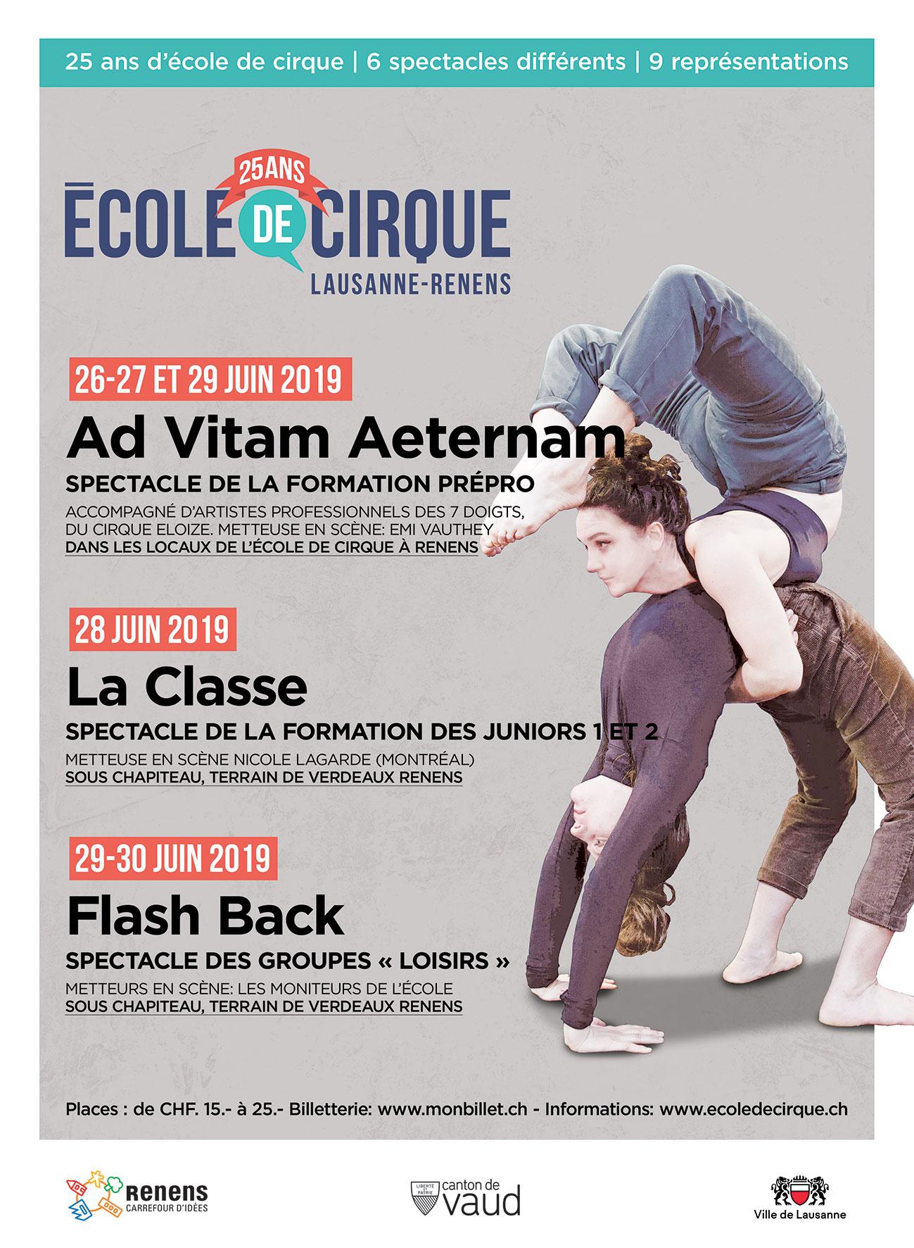 25 ans de l'Ecole de Cirque