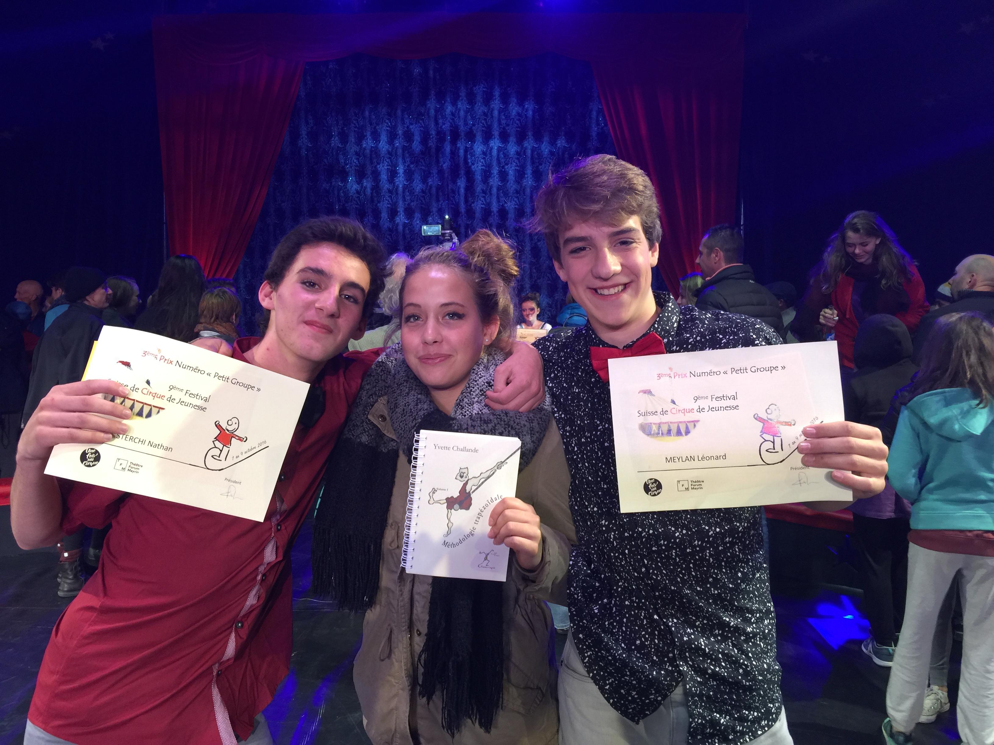 Nos jeunes au Festival Suisse de Cirque de Jeunesse